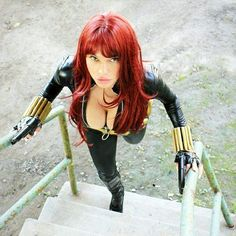 Character: Black Widow / From: MARVEL Comics 'Avengers' / Cosplayer: Naomi Von Kreeps - Cosplay, Dork, Spaz