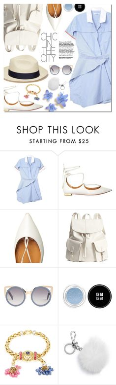 """""""Chic in the city"""" by bibibaubau ❤ liked on Polyvore featuring Aquazzura, Artesano, Erdem, Givenchy, Giovane and Michael Kors"""