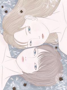 #illustration #illustrator #art #drawing #dandelionfluff #dandelion #flower #girlsillustration #beautifulwomens #instart #artgram #procreate #girl #bluegray #symmetry #イラスト #イラストレーション #アート #綿毛 #たんぽぽ #花 #プロクリエイト #絵 #少女画 #作品 #アートグラム #女の子 #ブルーグレー #デジタルアート Artworks, Crochet Hats, Drawing, Illustration, Knitting Hats, Art Pieces, Illustrations, Draw, Art