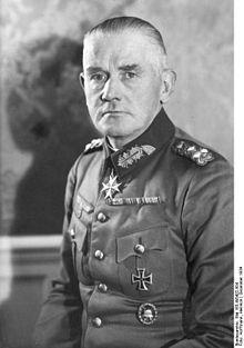Wehrmacht General Field Marshall Werner von Blomberg - 1st Infantry Division, Reichskriegsministerium