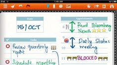 Noteshelf app for iPad written notes
