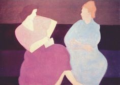 1956, Milton Avery (American artist, 1885-1965) Conversation  It's About Time: The Paintings of American, Milton Avery 1888-1965