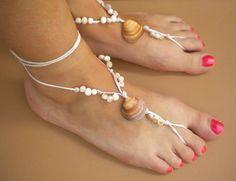 Pair of Barefoot Sandals Bohemian Hippie Shoe by DengraDesigns