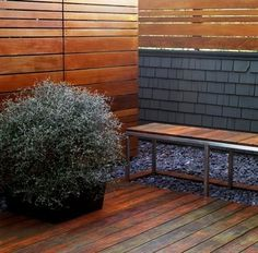 A Modern Horizontal Fence Design Idea.
