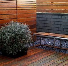 A Modern Horizontal Fence Design Idea.