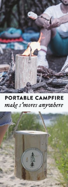 Enjoy the magic of a campfire in a tidy, transportable package. Incredibly easy, this quick-light log provides a self-contained flame that lasts for up to two hours. All the fun of an outdoor flame without the risk or commitment of a full campfire.