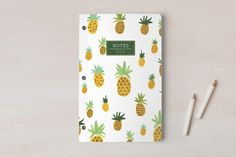 Pineapple Pattern Notes Notebooks by Erika Firm at minted.com