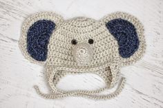 Repeat Crafter Me: Crochet Baby Elephant Hat and Lion Brand Heartland Yarn Giveaway!