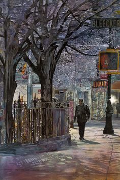 John Salminem  Title: Bleecker Street  Original Dimensions: 35.75 x 24  Purchase original, contact artist  Purchase a large giclee $350