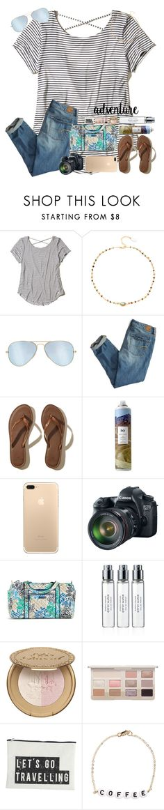 """""""Be fearless in the pursuit of what sets your soul on fire."""" by erinleigh02 ❤ liked on Polyvore featuring Hollister Co., Ela Rae, Ray-Ban, American Eagle Outfitters, R+Co, Eos, Vera Bradley, Byredo, House Doctor and Ryan Porter"""