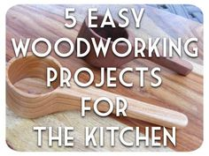 5 Easy Woodworking Projects for the kitchen and home decor. I've compiled 5…