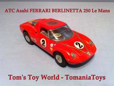 Asahi FERRARI BERLINETTA 250 ATC Japan Ferrari Berlinetta, Men's Toms, Tin Toys, Battery Operated, Atc, Japan, Okinawa Japan