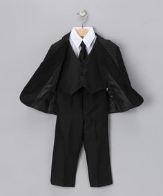 25.00!     Another great find on #zulily! Black Five-Piece Suit Set - Infant, Toddler & Boys #zulilyfinds