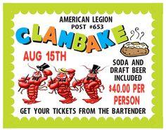 American Legion Clam Bake Fundraiser
