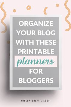 Are you looking for printable planners to help you organize your blog? Check out these 9 amazing printable blog planners you can instantly download! #productivitytools #organizer #printables