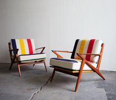 Sit And Read   Hudson Bay Blanket Covered Chairs. Just Added A Vintage Four  Point Blanket To My Etsy Store! Part 41
