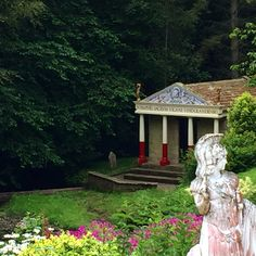 The replica temple at Roman Vindolanda in England. The Old Curiosity Shop, Antiques Roadshow, New Zealand, Garden Sculpture, Temple, Roman, How To Find Out, Old Things, England