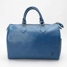 Louis Vuitton Speedy 30 Epi Handle bags Blue Leather M43005