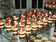 Mmh chocolate, vanilla pudding layered #dessert cups