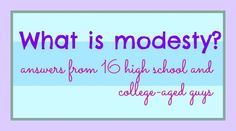What is modesty? This really surprised me! minor survey  done on a handful of clothing  items.....
