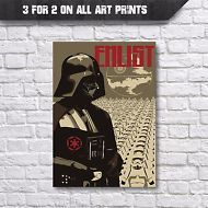 Star Wars Poster - Abstract Darth Vader Movie Posters, A3 A4 Wall Art Decor