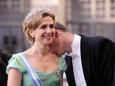 Iñaki Urdangarin y la infanta Cristina en el banquete de boda de la Princesa Victoria de Suecia y su marido Daniel Westling, celebrado en el Palacio Real de Estocolmo el 19 de Junio de 2010.