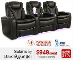Barcalounger Solaris Home Theater Seats