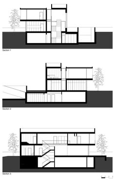"Portuguese architecture studio Atelier Nuno Lacerda Lopes has designed the three story, contemporary Paramos House in Espinho, Portugal.         Paramos House by Atelier Nuno Lacerda Lopes: ""Paramos House has a striking contemporary design that goes above and beyond the standardized and canonical models of today's usual housing solutions. Volumetrically, this solution presents the residential home as a game. It highlights an articulation of volumes, with variations between opaque and…"
