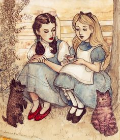 When Dorothy met Alice ... Some serious conversation.
