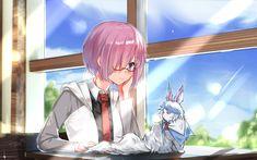 Download wallpapers Mashu Kyrielight, 4k, Shielder, manga, Fate Grand Order, Meganekko, TYPE-MOON