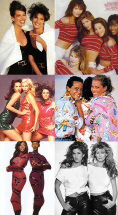 Their matching outfits. | 51 Reasons Why Supermodels Were Better In The '90s