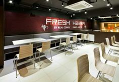 KFC Mongolia // Basement. Interior design for the international first fast food restaurant in Mongolia, for KFC.