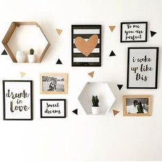 Beautiful monochrome kids room shelves and wall art!