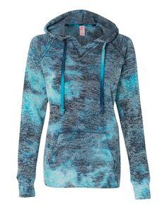 Weatherproof Youth Girls Burnout V-Notch Hooded Sweatshirt