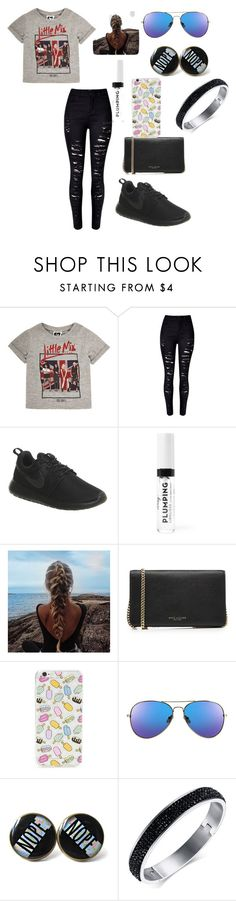"""""""Little Mix"""" by deesel ❤ liked on Polyvore featuring WithChic, NIKE, Marc Jacobs, Forever 21, bandtshirt and bandtee"""