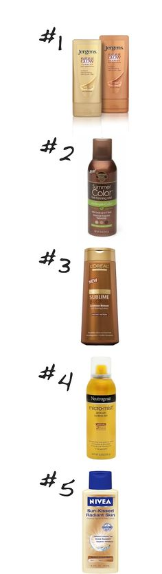 top self tanners although I would have to say #2 is my #1 & #4 is my #2. These are all good though!