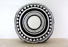 Santa Monica round cushion 47cm  Hand screen by Bubblesatthehead, $72.00