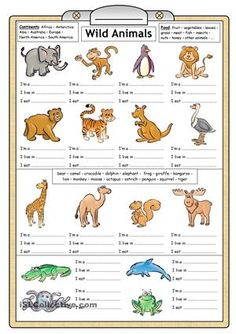 Both young and older learners can practise basic reading and writing skills with this worksheet. It can also be used to stimulate thinking skills and even improve SS knowledge of geography. - ESL worksheets