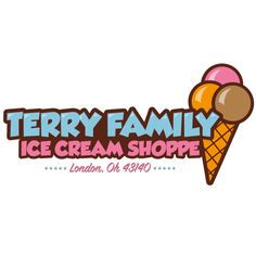 Terry Family Ice Cream Shoppe, new logo for a family run ice cream business based in London, Ohio, USA, since the 1940s