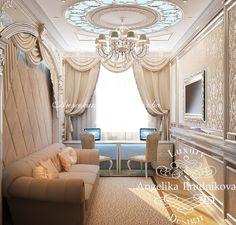 Интерьер кабинета в квартире - Дизайн пентхауса