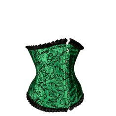 A gorgeous Green and Black Underbust Corset with mild sweetheart bust line and green and black brocade print underbust corset with pleated trim. This stunning corset is perfect for a night out with the girls or any formal occasions. Green Corset, Mode Rockabilly, Blue Boots, Underbust Corset, Glamour, Cosplay Outfits, Bustier, Black Blouse, Green Colors