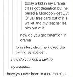 True drama/theatre classes are very wild