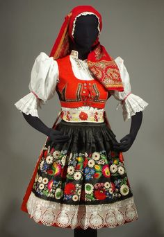 Czech & Slovak Folk Costumes for Sale Folk Fashion, Ethnic Fashion, European Fashion, Folk Costume, Costume Dress, Traditional Fashion, Traditional Dresses, European Costumes, Mexican Design