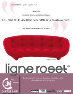 pub insertion Le Point Ligne Roset, Flyers, Marie, Openness, Posters, Ruffles, Leaflets