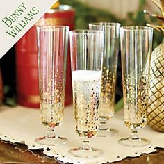 Bunny Williams Bubbly Glasses - Set of 4