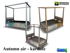 Without fabric canopy bed  Found in TSR Category 'Sims 4 Beds'
