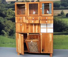 German designer Ton Matton's dresser-turned-chicken coop blends urban amenities and spacial restrictions with the sustainability of rural life.