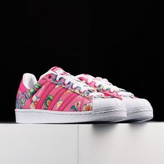 f0034abe2273db ADIDAS ORIGINALS SUPERSTAR RAVE PINK WHITE FLORAL S75128. Mikos Ákos ·  Sneakers