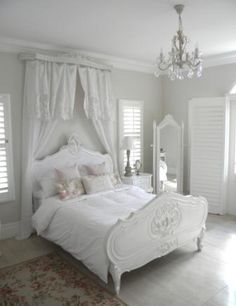 Shabby Chic French, love this, maybe add some teal in there