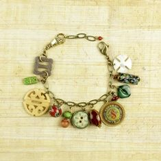Neat Bracelet made from buttons and findings-$78.00